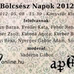 Bölcsész Napok 2012