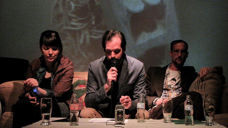 Az esten felolvastak a 2015-ös Móricz-ösztöndíjasok: Haraszti Ágnes, Czinki Ferenc és Kassai Zsigmond