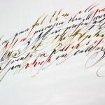 Kalligráfia és tipográfia – Vincze Erika műveiről